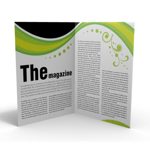 a4 folded brochure fast print